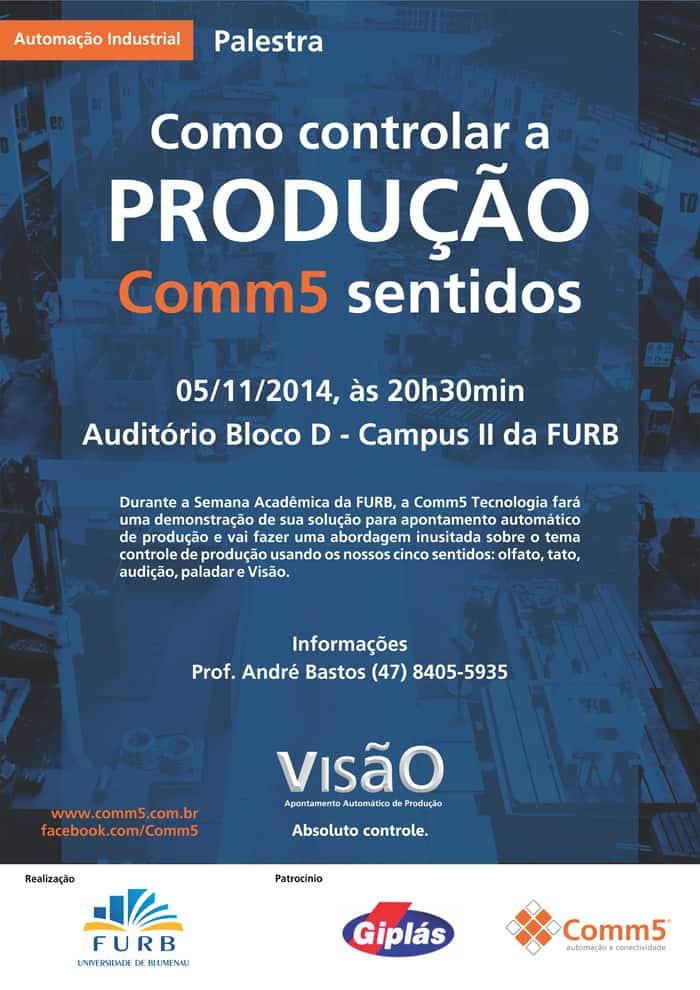 Palestra FURB para demonstração de solução de apontamento automático de produção